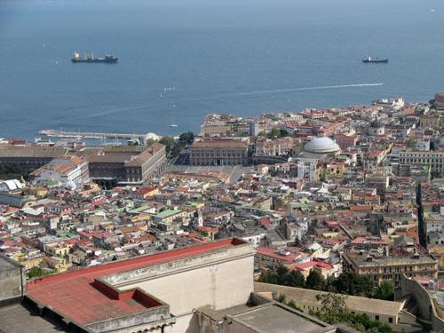 Panorama di Napoli visto San Martino