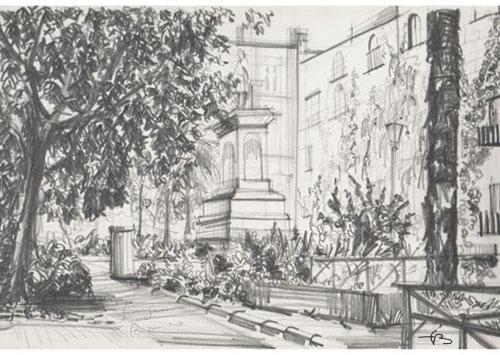 Piazza Bellini. Napoli