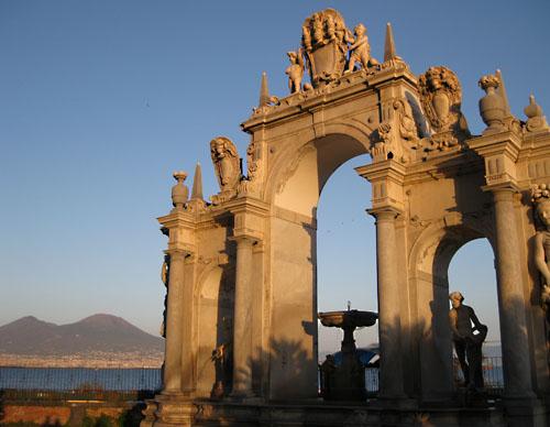 Panorama da via Partenope, Napoli.